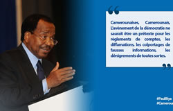 Le grand jeu de Paul Biya: Tweeter