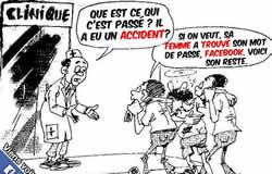 Victime d'un accident sur facebook