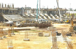 Work progresses to japoma stadium