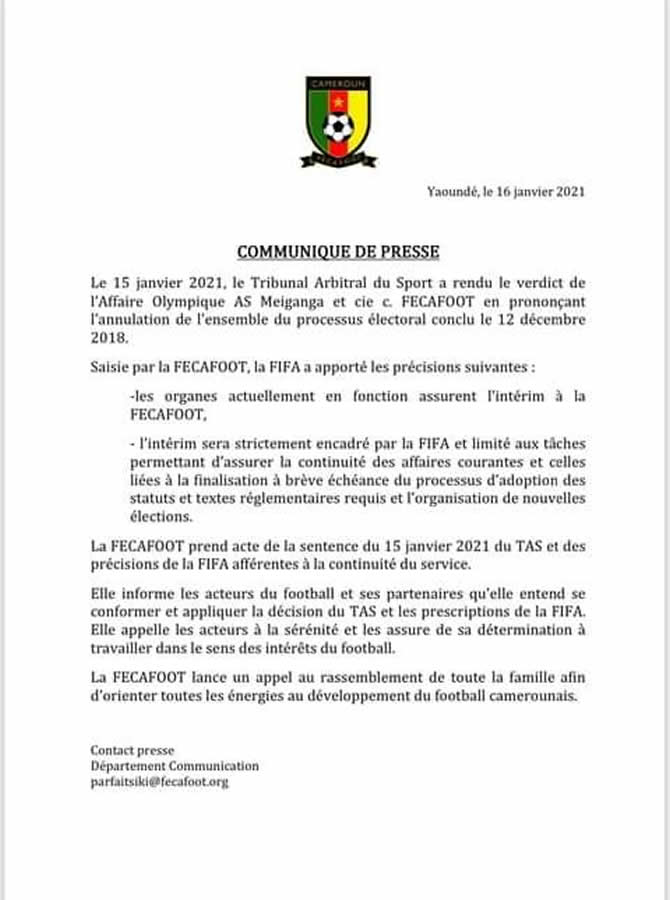 reponse_fecafoot_fifa_tas_annulation_election_fecafoot
